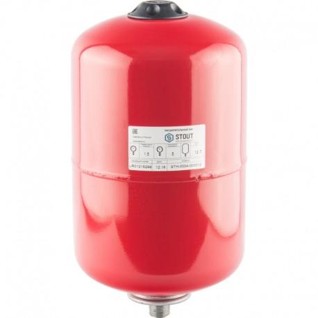STOUT 12 л. Расширительный бак на отопление (цвет красный)