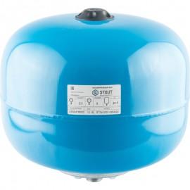 STOUT 24 л. Расширительный бак, гидроаккумулятор вертикальный (цвет синий)