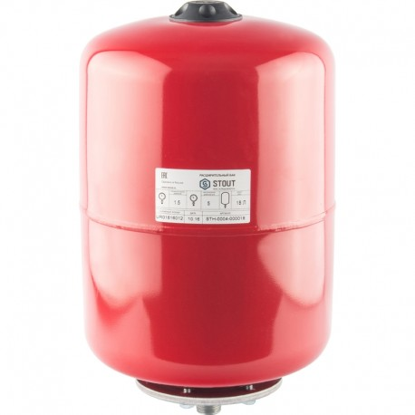 STOUT 18 л. Расширительный бак на отопление (цвет красный)