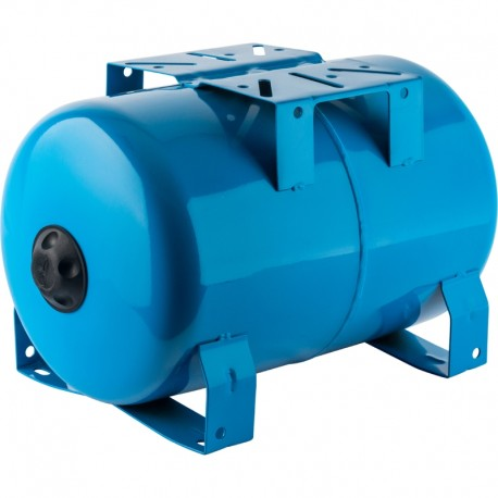 STOUT 20 л. Расширительный бак, гидроаккумулятор горизонтальный (цвет синий)