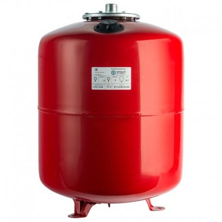 STOUT 50 л. Расширительный бак на отопление (цвет красный)