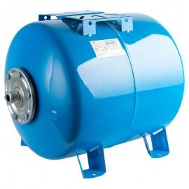 STOUT 50 л. Расширительный бак, гидроаккумулятор горизонтальный (цвет синий)