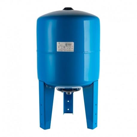 STOUT 80 л. Расширительный бак, гидроаккумулятор вертикальный (цвет синий)